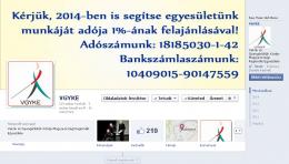 Vgyke Facebook oldala kép