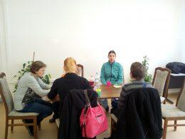 Mikola Gyöngyvér beszél az angyalföldi klubnapon