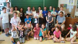 A képen a csoport akik az érzékenyítésen részt vettek