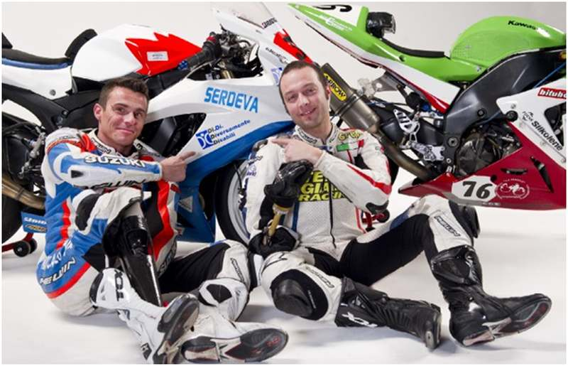 A két büszke ötletgazda, Emiliano Malagoli és Matteo Baraldi