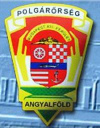 A képen az angyalföldi polgárőrség logója látható