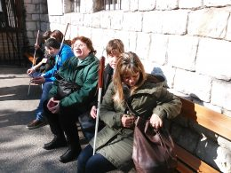 A fényképen a látogatók egy része látható