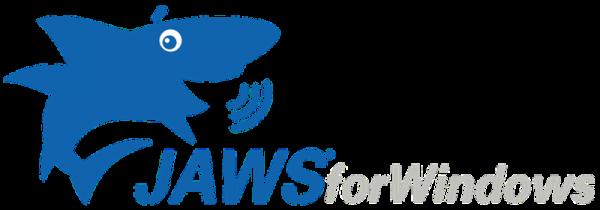 a képen a JAWS for Windows logója látható.
