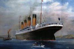 A képen a Titanic gőzhajó látható