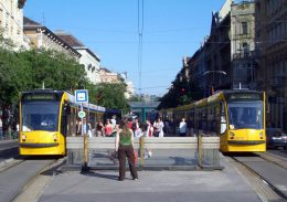 A képen a Jászai Mari tér megálló látható