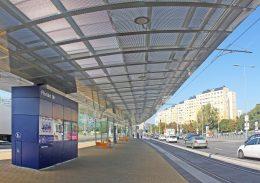 A képen az egyes villamos egyik megállója látható