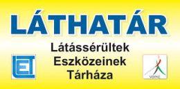 A képen a segédeszközöket árusító Láthatár bolt plakátja látható