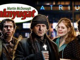 A képen a színdarab plakátja látható, középen a főszereplővel, Alföldi Róberttel