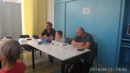 A képen az új munkatársunk látható a zuglói klubnapon