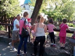 A képen az angyalföldi klub legfiatalabb tagjai láthatóak az Állatkertben