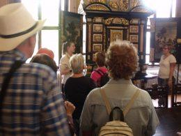 Egy titkos szekrény a Nádasdy-vár nagytermében