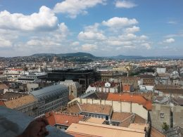 Budapest panorámája a Bazilika kilátójából