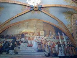 Matyó emberek a templom egyik festményén