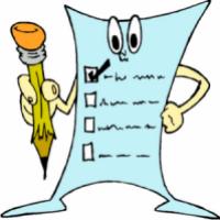 A képen egy kérdőív látható, ceruzával